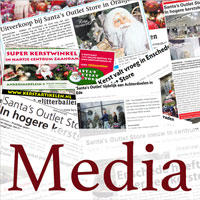 media en publiciteit santa's outlet store