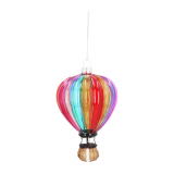 Hot-Air-Balloon Glass Hanging Figurine 12.5cm Multicoloured