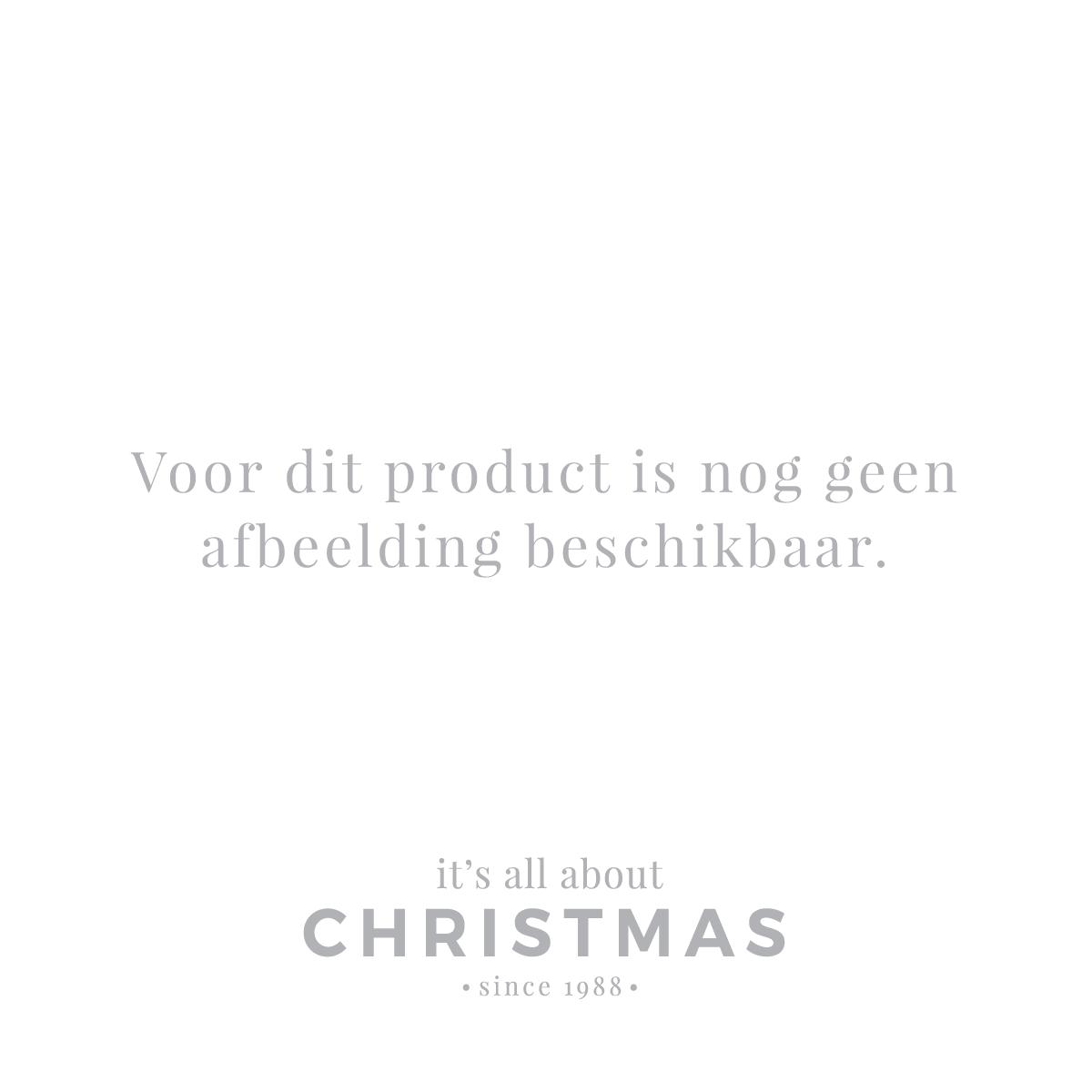 Hanger snowman & snowlady white glass 9 cm
