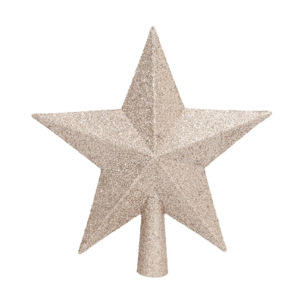 Mini glitter topper 14 cm champagne
