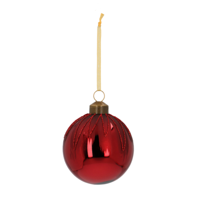 Elegant Glass Christmas Bauble Icicles 7cm Maroon