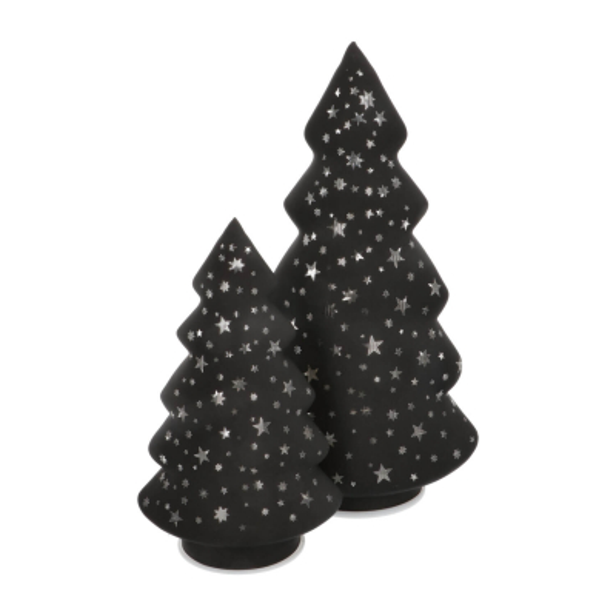 LED Glass Christmas Tree 28cm black