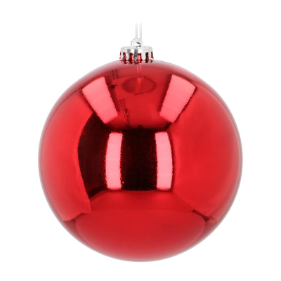 Shatterproof XL Christmas bauble red 15 cm