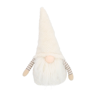 Gnome with arms 34cm cream/gold