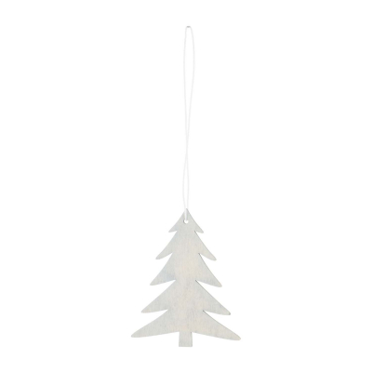 Wooden Christmas Tree Ornament 8cm Grey