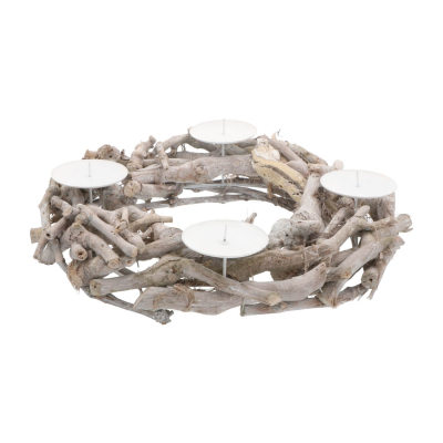Christmas wreath branches with candle holder 40cm