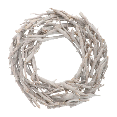 Christmas wreath branches white washed 48cm