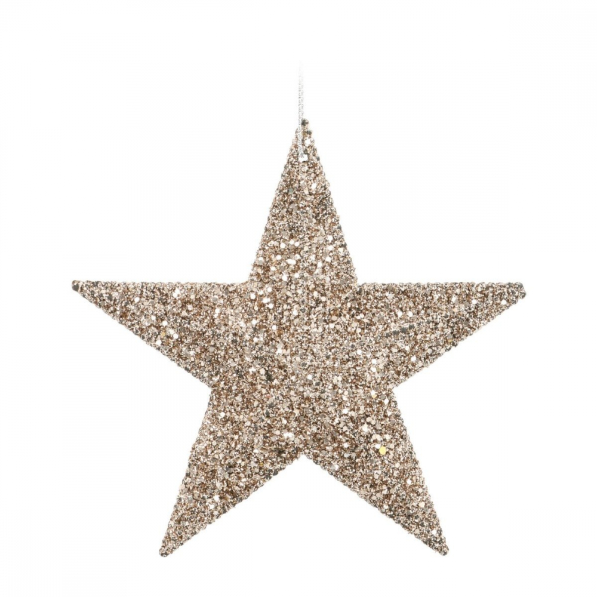 Glitter Christmas star 11cm champagne