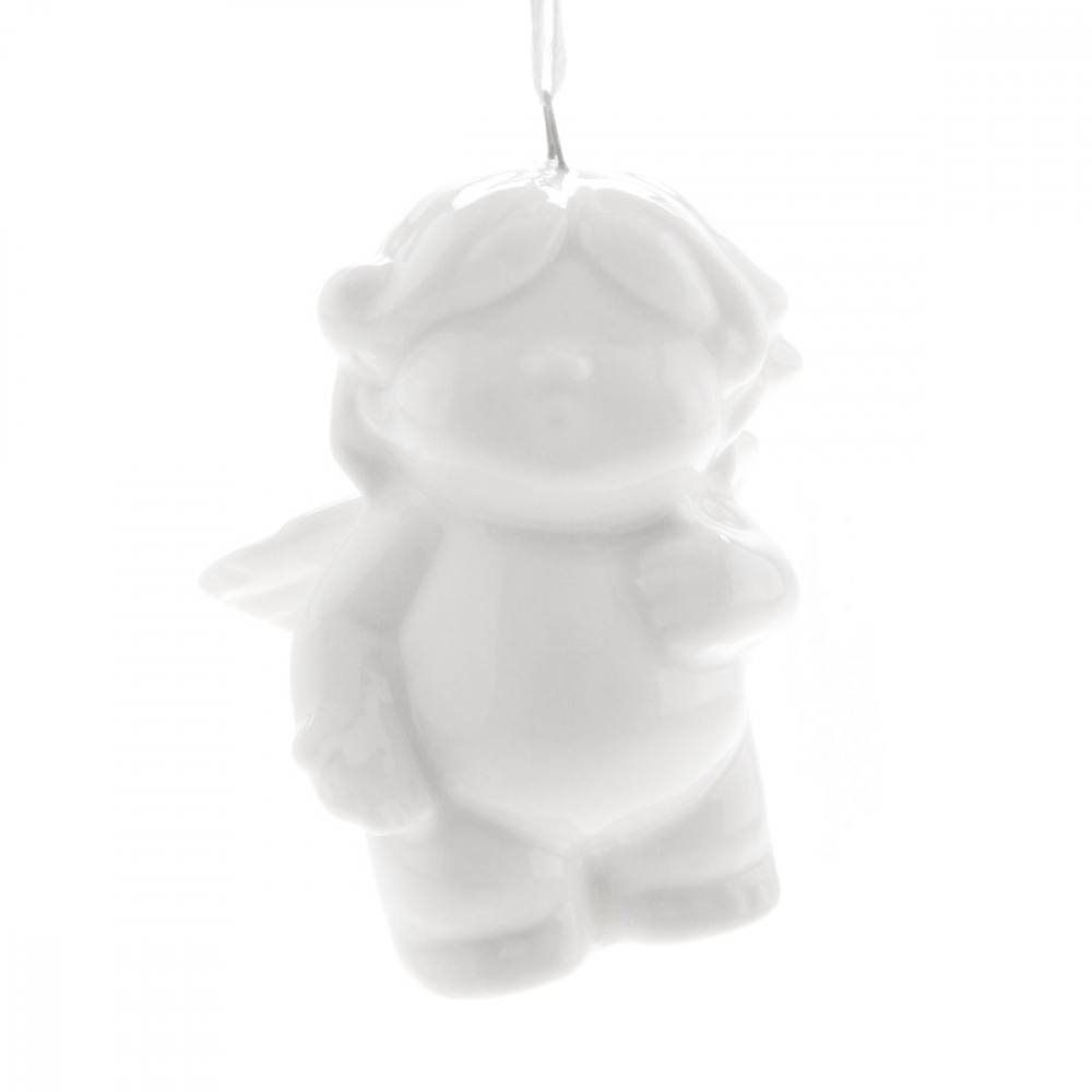 Angel with hanger - 4,5cm - Porcelain