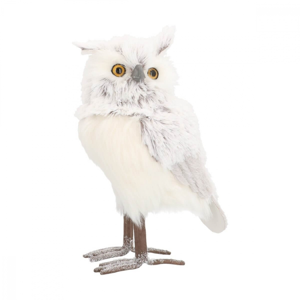 Owl - Silver/White - Nature