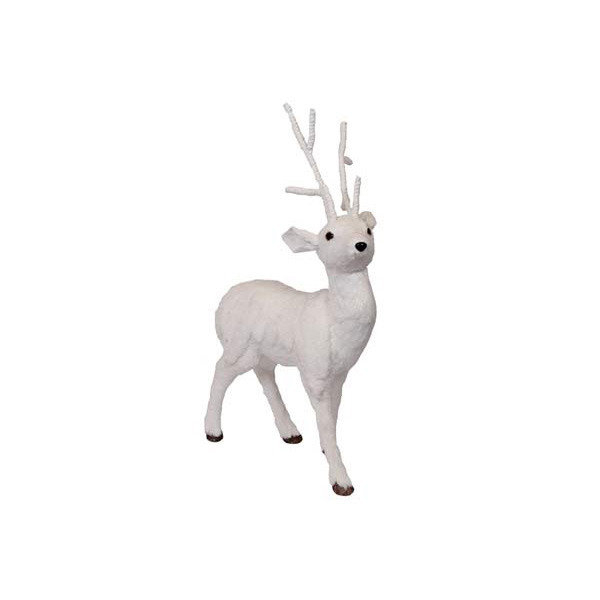 Reindeer with snow - 88cm - White