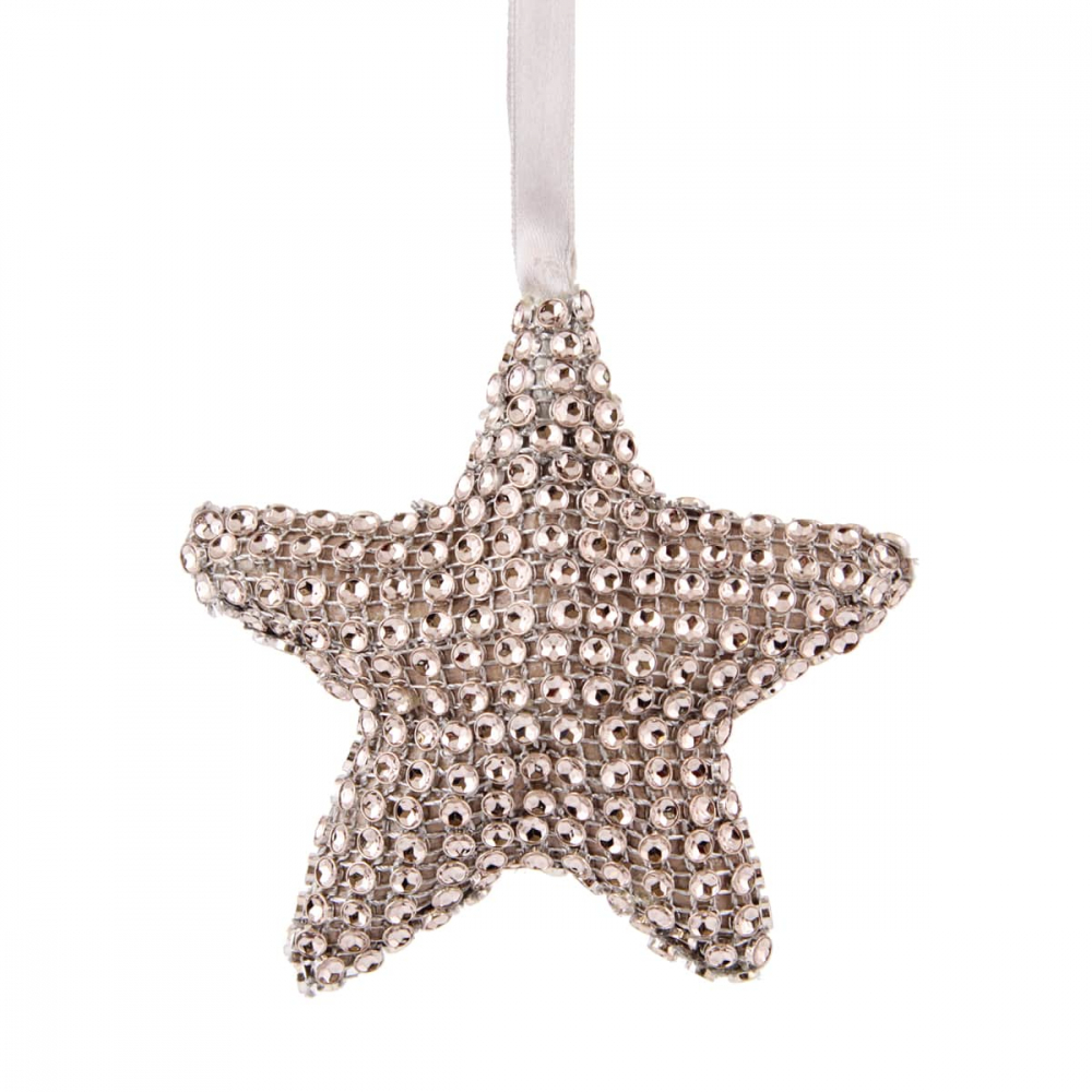 Star with Diamonds - 10,5cm - Grey/Black