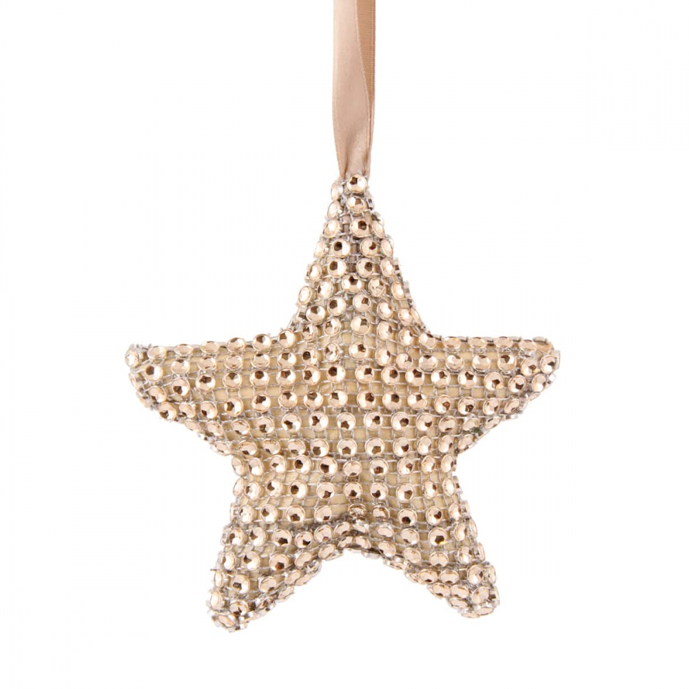 Star with Diamonds - 10,5cm - Champagne
